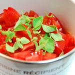 早生玉ねぎとフレッシュトマトの冷製パスタ写真A